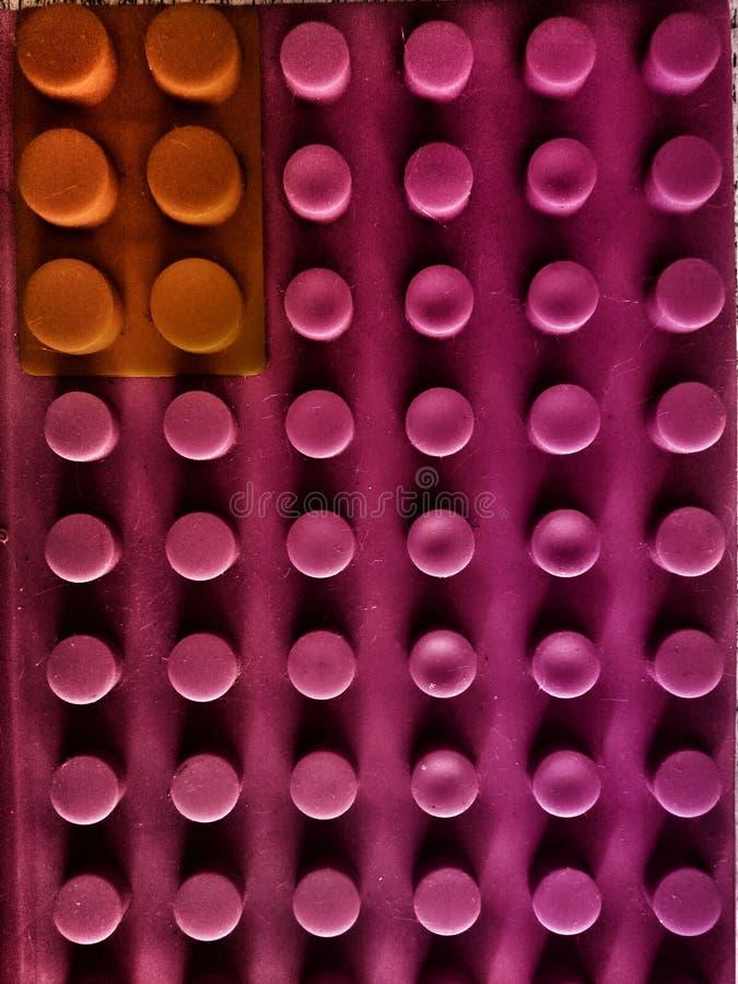 Os blocos cor-de-rosa do brinquedo modelaram fotografia de stock royalty free