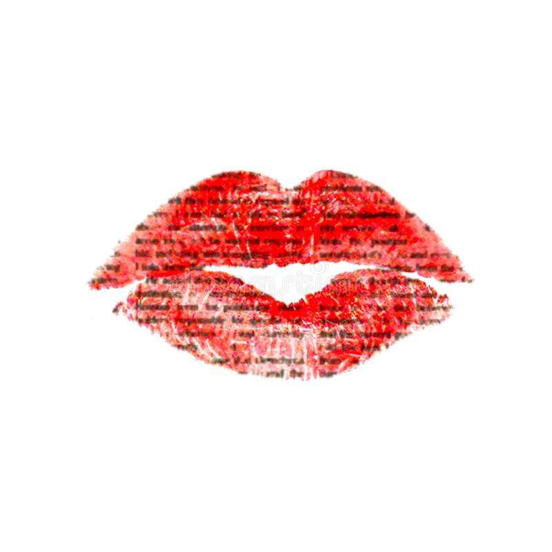 Os bordos beijam com textura do jornal imagens de stock