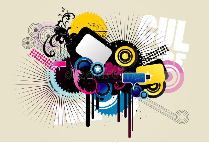 Os círculos abstratos vector a ilustração ilustração royalty free