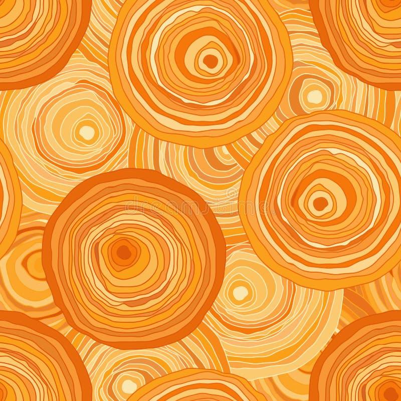 Os círculos contornam a laranja ilustração royalty free