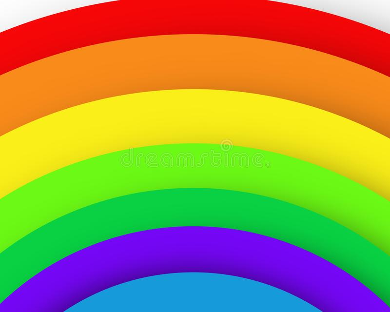 Os círculos do arco-íris modelam o cartaz da imagem do negócio, qualidade super ilustração do vetor