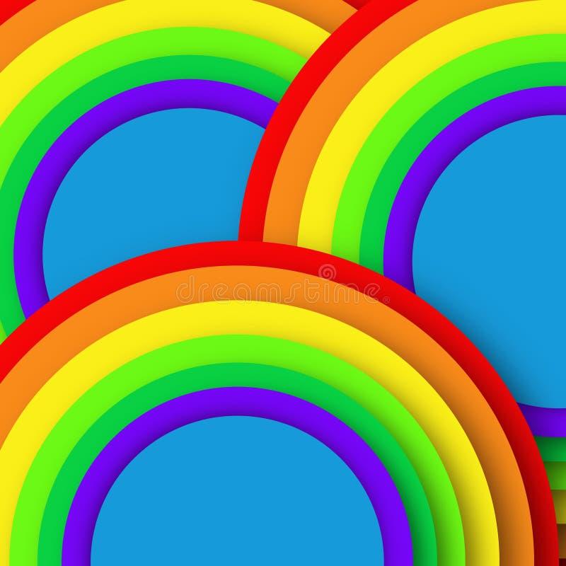 Os círculos do arco-íris modelam o cartaz da imagem do negócio, qualidade super ilustração royalty free