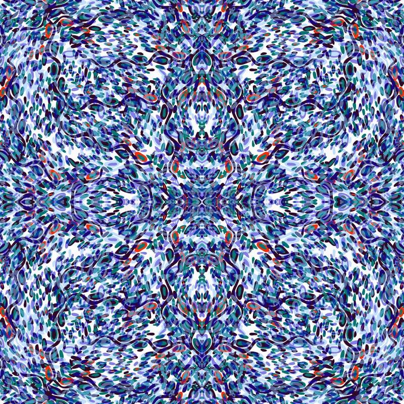 Os círculos e as linhas vetor sem emenda colorido dos objetos abstratos modelam o fundo bonito ilustração royalty free