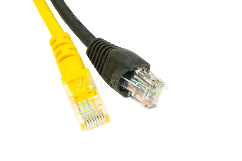 Os cabos ethernet imagens de stock royalty free