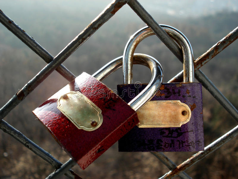 Download Os Cadeado Do Amante Da Promessa Foto de Stock - Imagem de compra, history: 16856338
