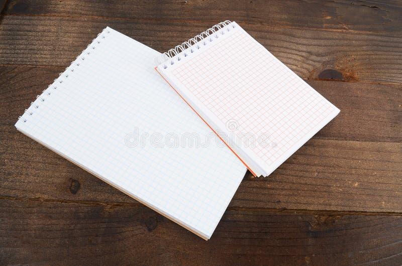 Os cadernos diferentes fecham-se acima foto de stock royalty free