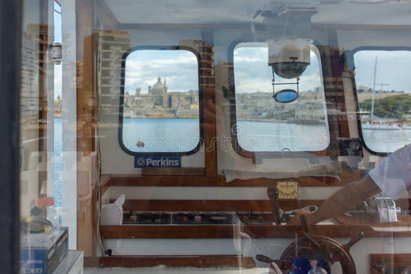 Os capitães veem de Valleta Malta foto de stock