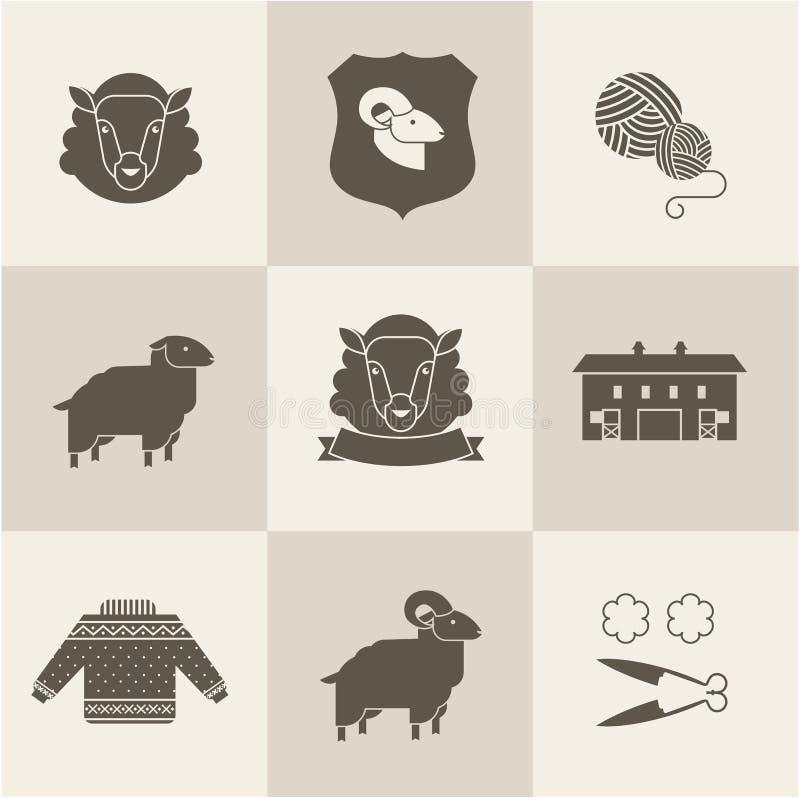 Os carneiros vector o grupo ilustração do vetor