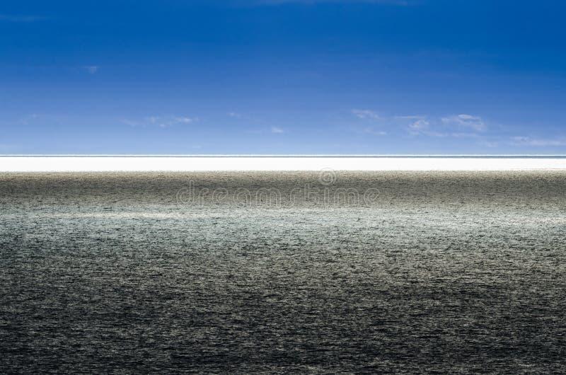 Os cartão de Bonavista, Sun brilham em Oceano Atlântico, contraste alto, Twillingate, céu azul dramático fotografia de stock