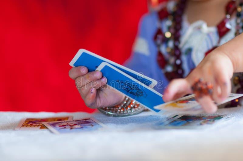 os cartões de caixa de fortuna imagens de stock