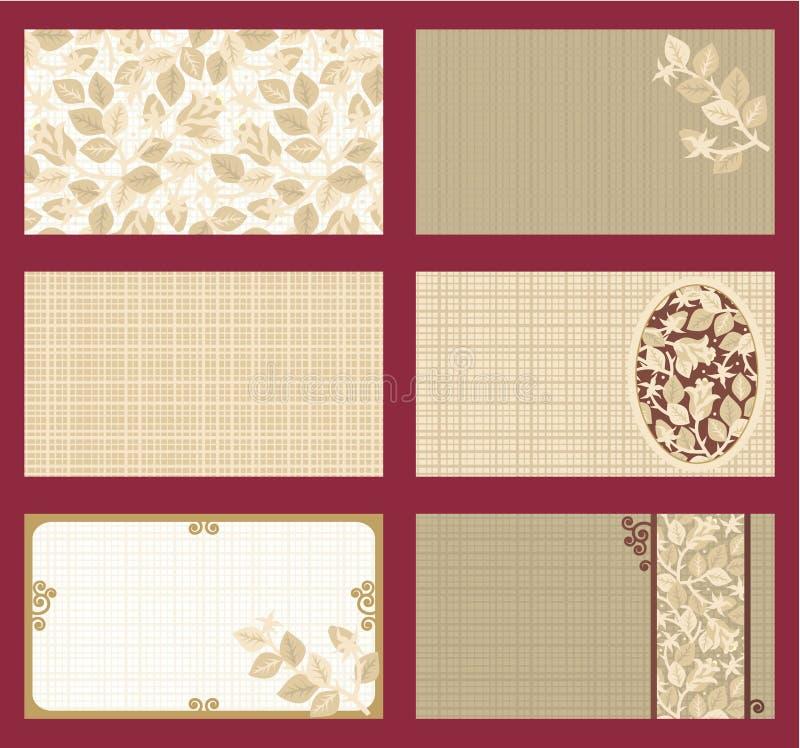 Os cartões, presente etiquetam, convites, templ etc. ilustração stock