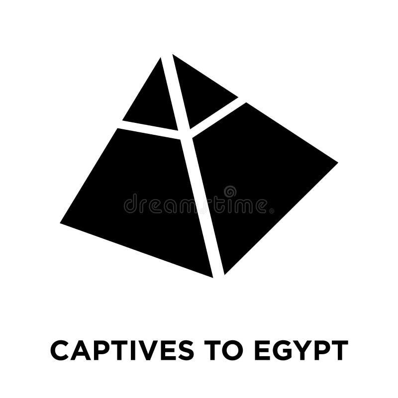 Os cativos ao ícone de Egito vector isolado no fundo branco, logotipo ilustração stock