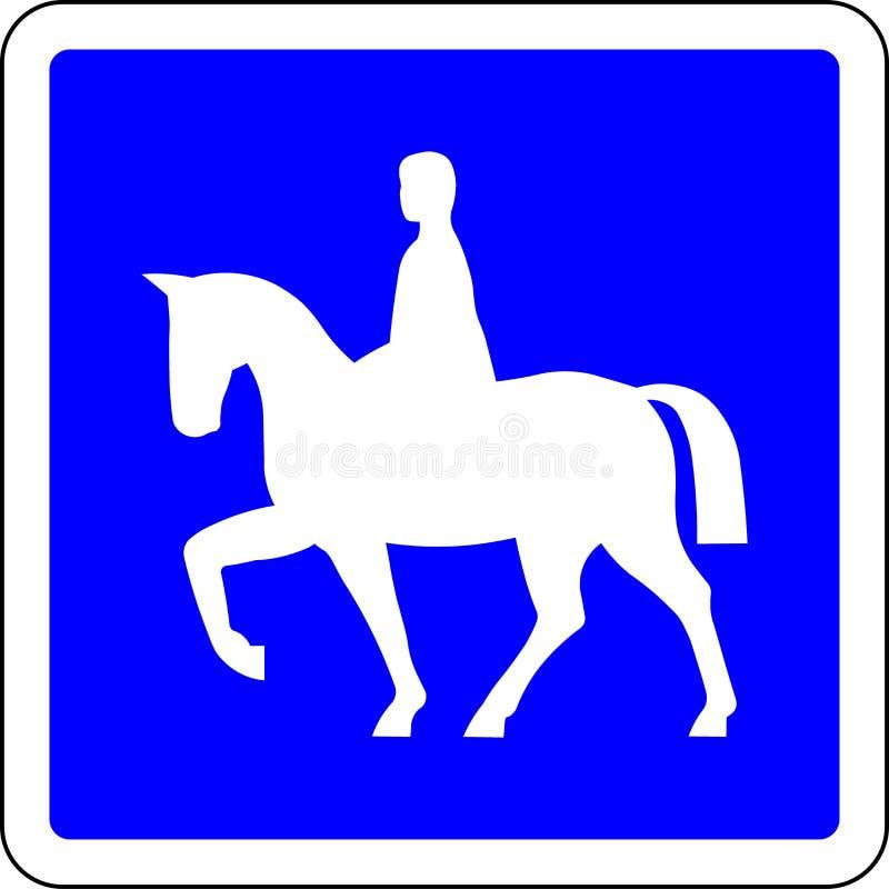 Os cavaleiros do cavalo permitiram o sinal de estrada ilustração royalty free
