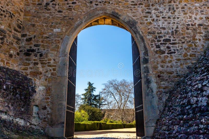 Os cavaleiros dos conventos de Templar de Cristo fortificam em Tomar Portugal Monastério da ordem de Cristo fotos de stock royalty free