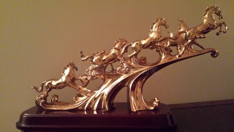 Os cavalos dourados imagem de stock royalty free