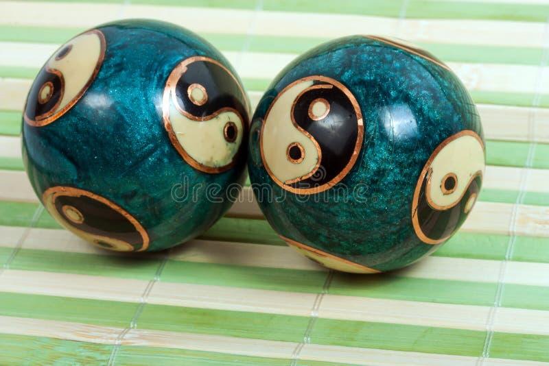 Os chineses de Baoding relaxam bolas fotos de stock