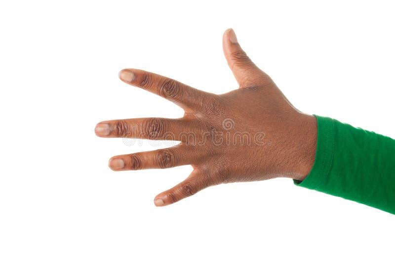Os cinco dedos de uma mão das meninas fotos de stock