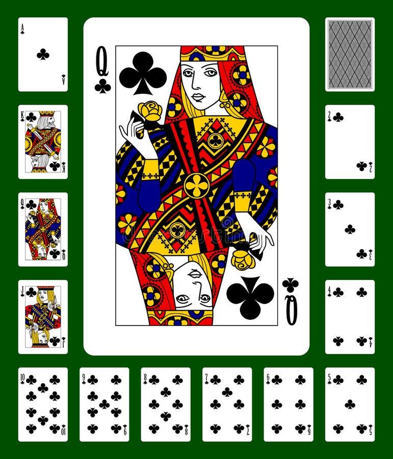 Os clubes serem cartões de jogo ilustração stock
