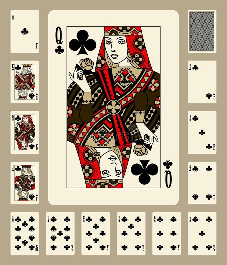 Os clubes serem cartões de jogo ilustração do vetor