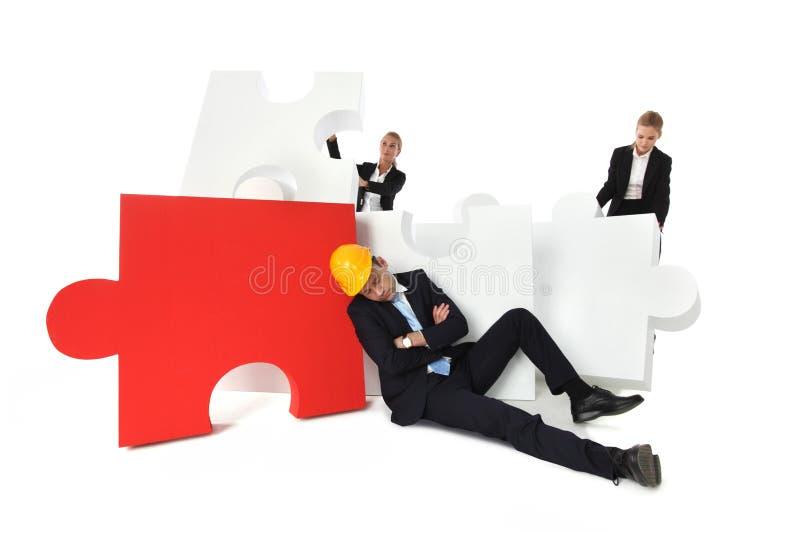 Os colegas de trabalho encontram o contramestre cansado foto de stock royalty free