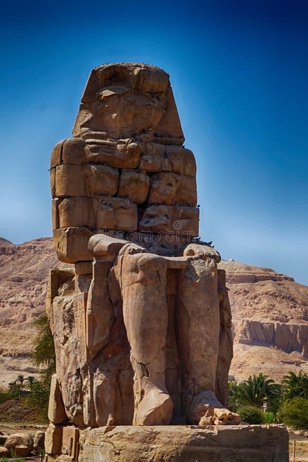 Os Colossi de Memnon imagens de stock royalty free