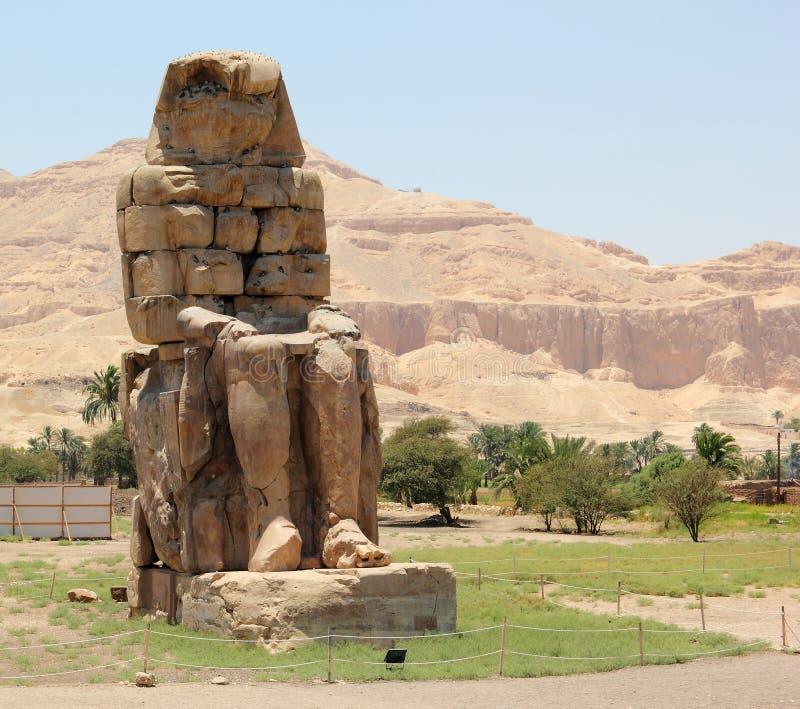 Os Colossi de Memnon. fotos de stock
