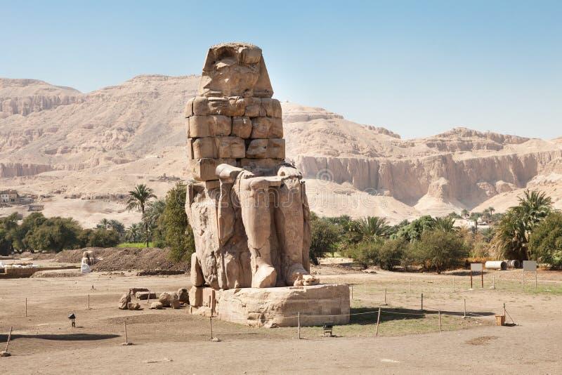 Os Colossi de Memnon foto de stock