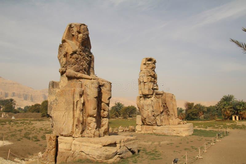 Os Colossi de Memnon imagens de stock