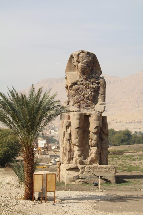 Os Colossi de Memnon imagem de stock royalty free