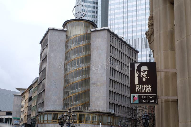 Os companheiros do caf? compram logotipo em Francoforte foto de stock royalty free