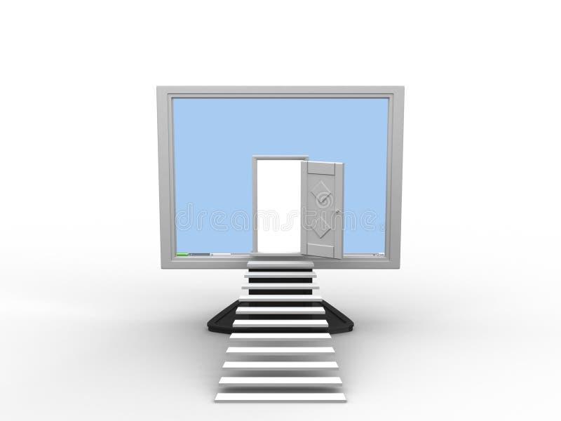 Os computadores são nossa vida. ilustração royalty free