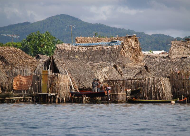 Os comunities de Kuna Yala fotografia de stock