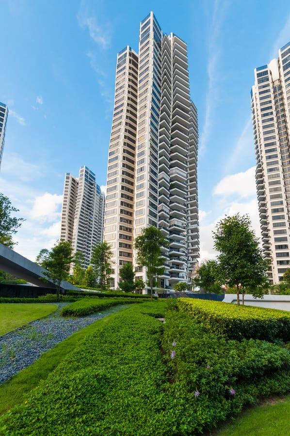 Os condomínios de D'Leedon em Singapura projetam pelo hadid de Zaha imagem de stock royalty free