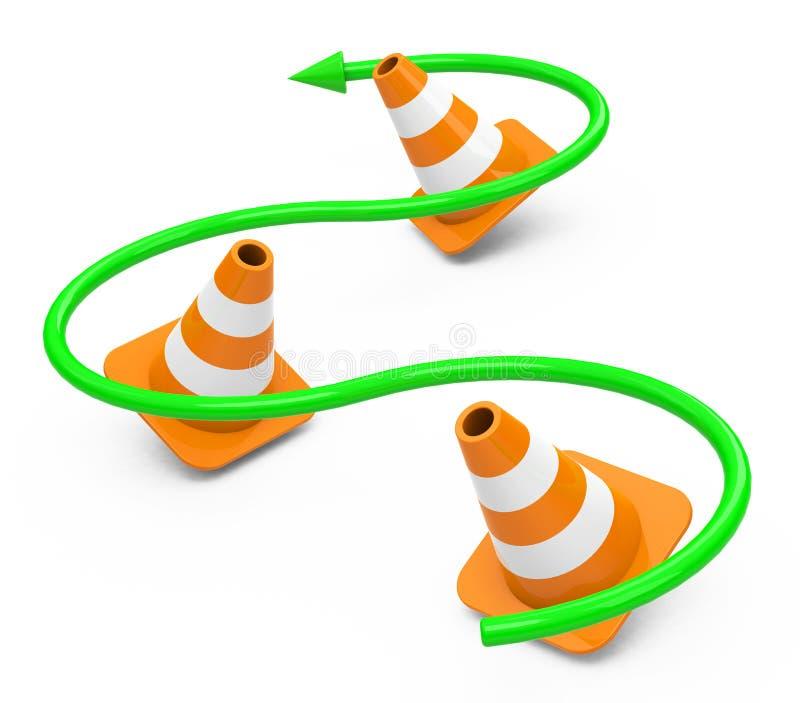 Os cones ilustração royalty free