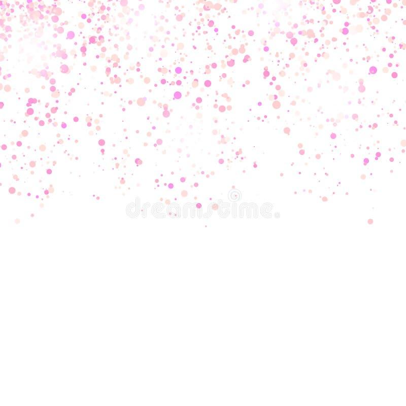 Os confetes cor-de-rosa modelam isolado no fundo branco ilustração do vetor