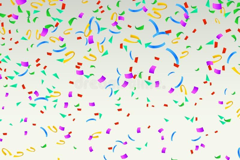 Os confetes felizes coloriram 03 ilustração royalty free