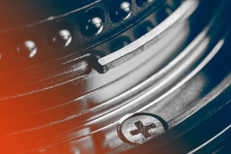 Os contatos da montagem da lente fotografia de stock