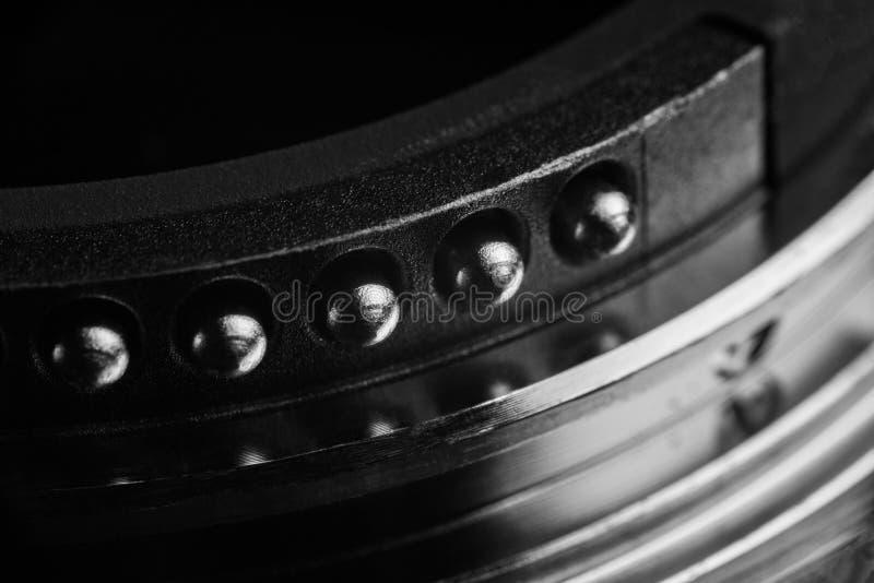 Os contatos da montagem da lente imagem de stock