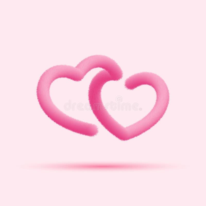 Os corações da pele misturaram a linha ícone ilustração do vetor
