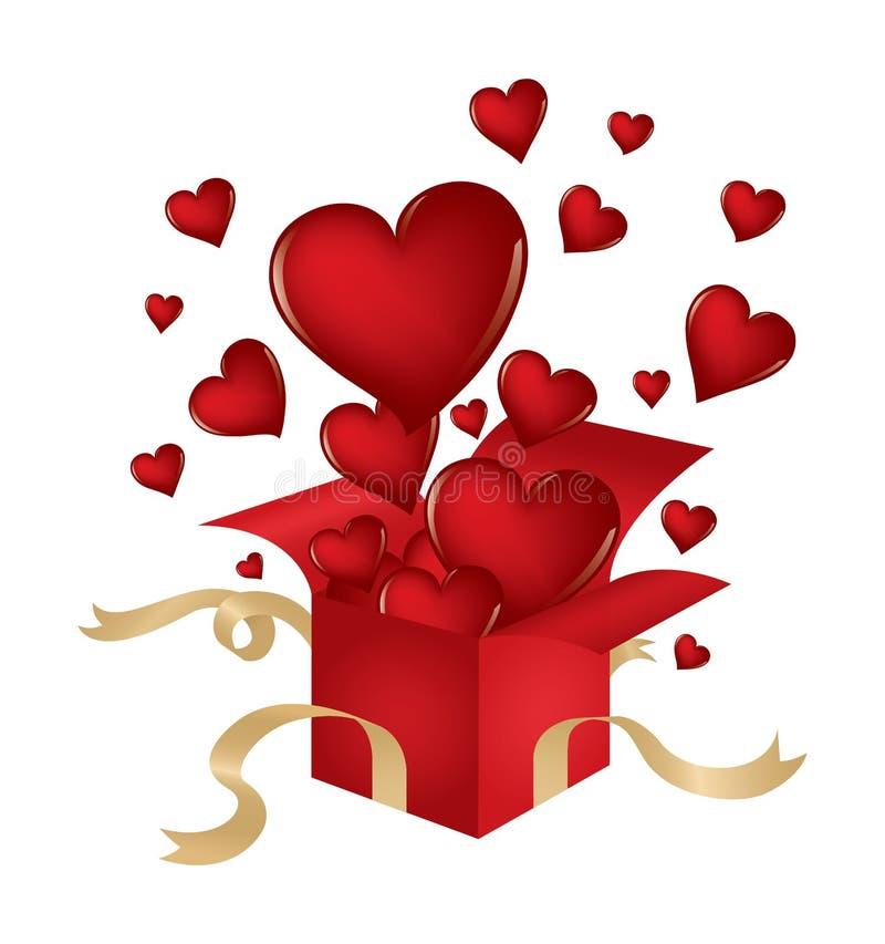 Os corações do Valentim ilustração stock