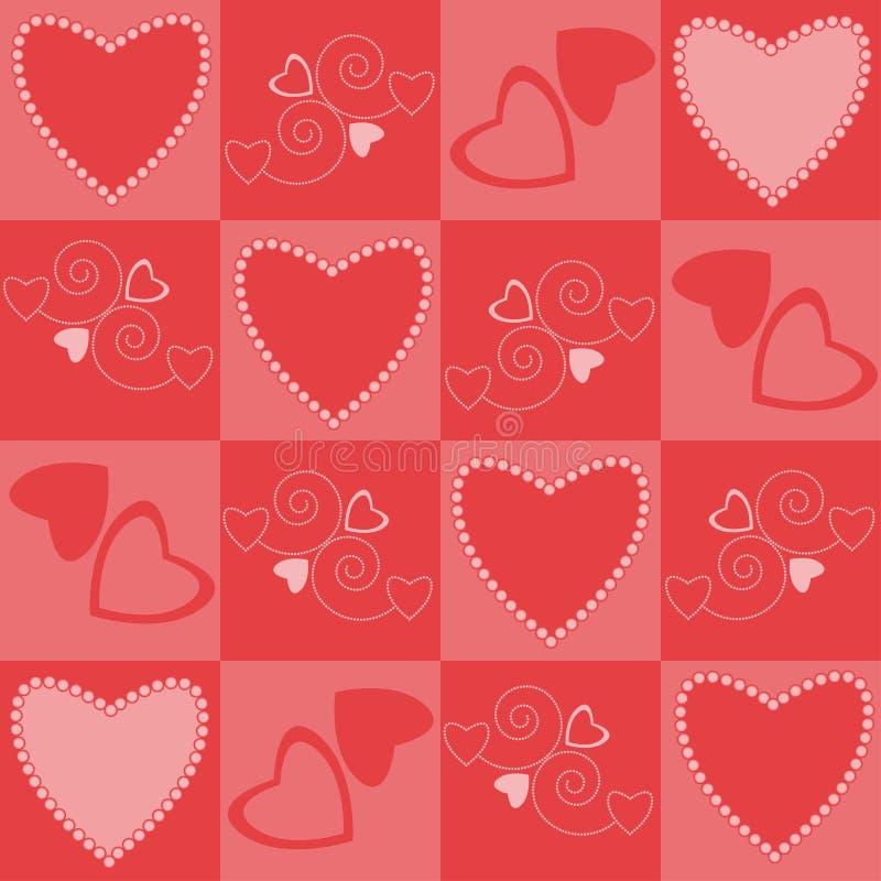 Os corações modelam sem emenda foto de stock royalty free