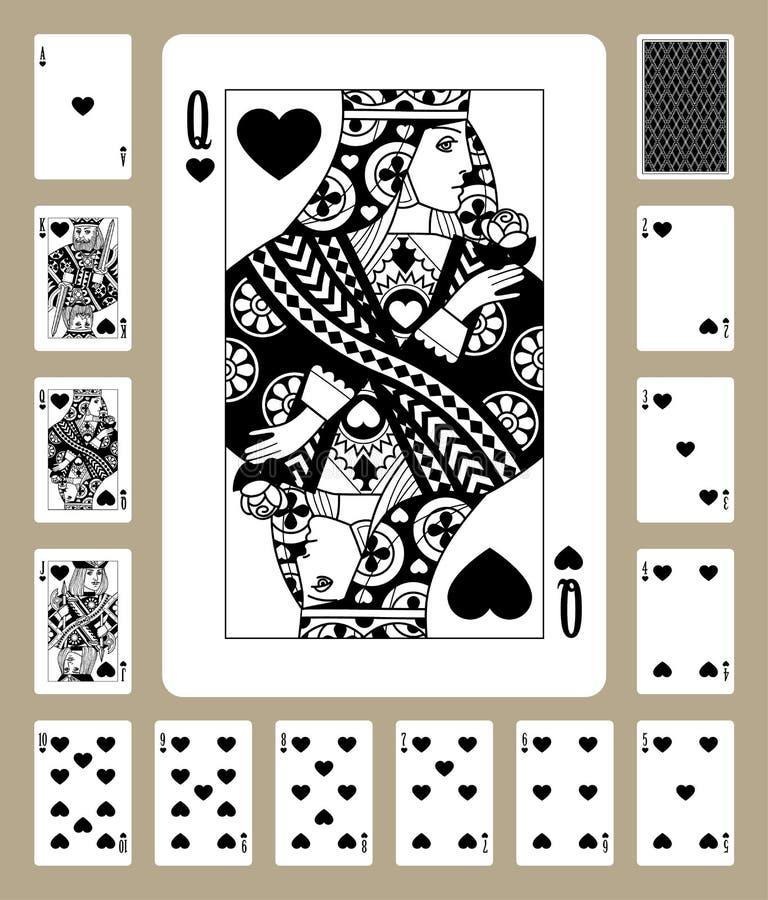 Os corações serem cartões de jogo ilustração do vetor