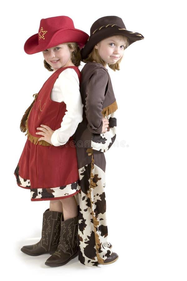 Os cowgirls pequenos os mais bonitos fotografia de stock