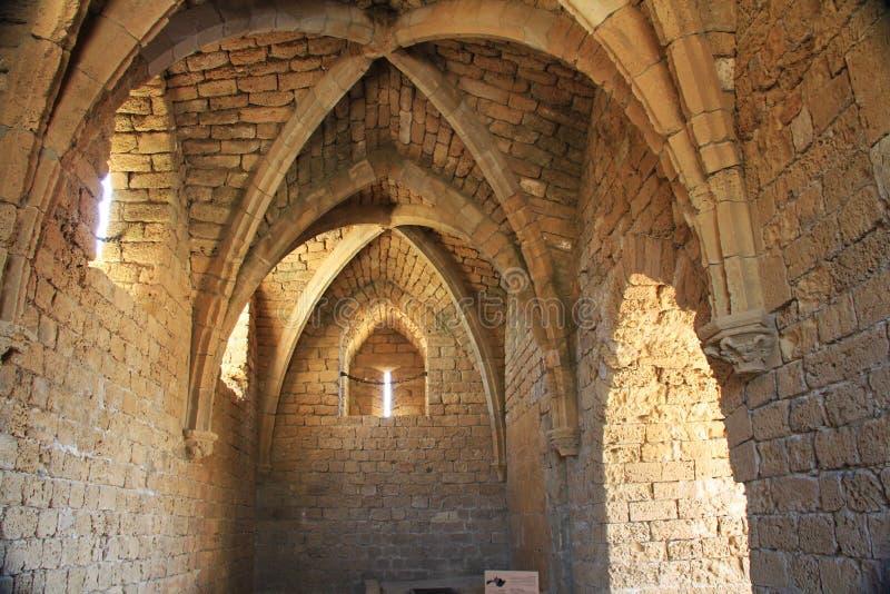 Os cruzados extasiam no parque nacional de Caesarea Maritima imagens de stock royalty free