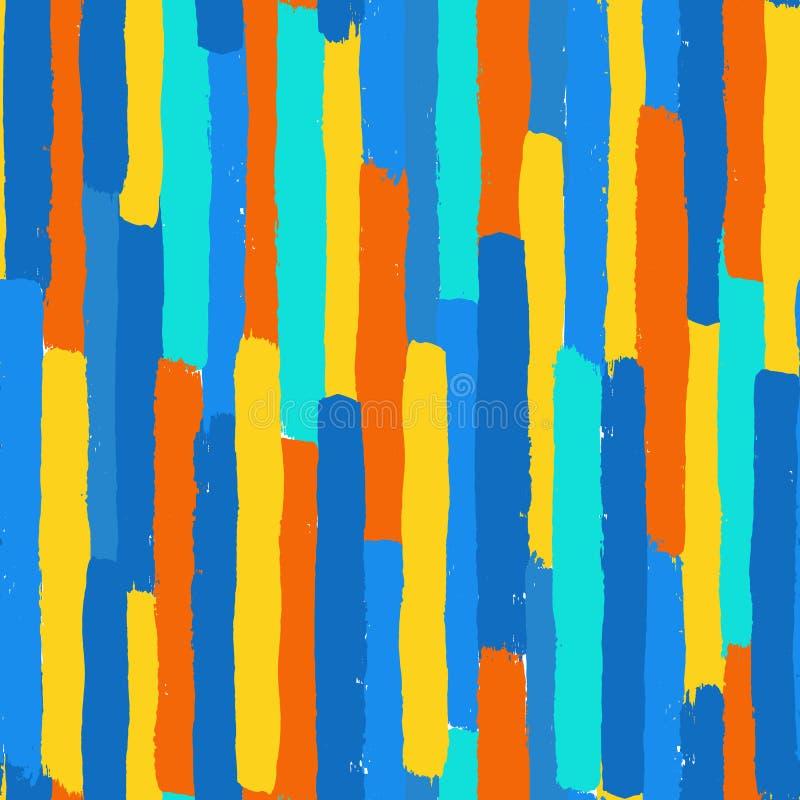 Os cursos da escova do vetor Textured o teste padrão sem emenda ilustração stock