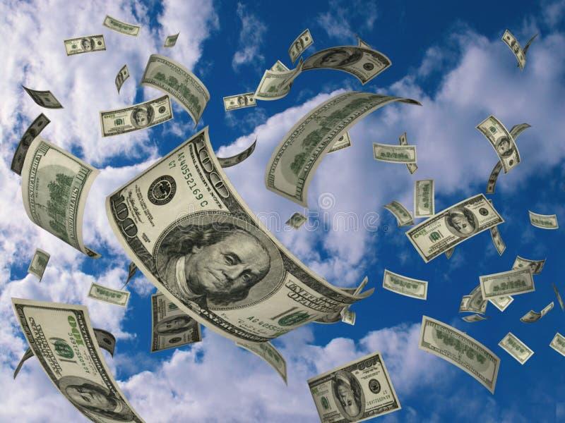 Os dólares voam ilustração stock