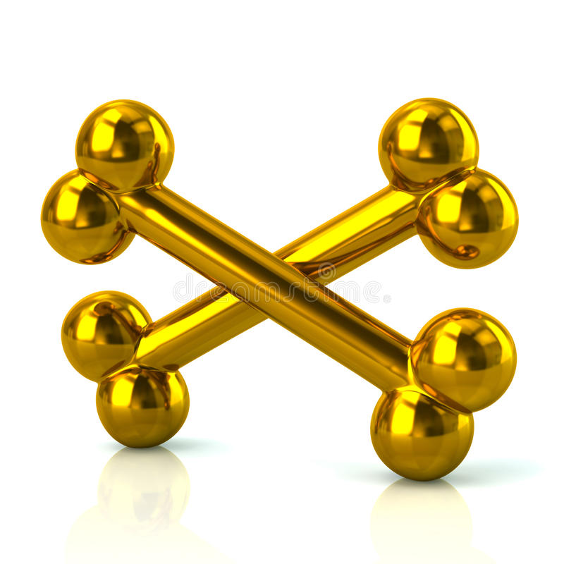 Os d'or croisés illustration libre de droits