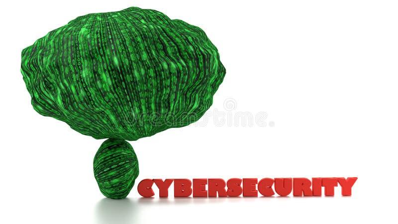 Os dados grandes aumentam o conceito do perigo do cybersecurity ilustração royalty free
