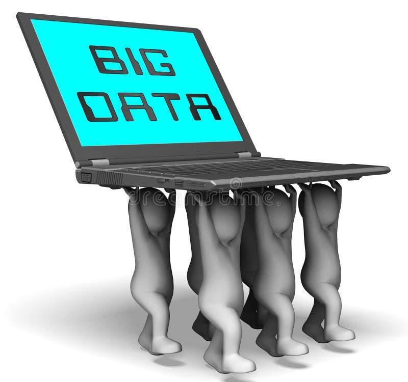 Os dados grandes utilizam ferramentas a rendição da caixa de ferramentas 3d de Digitas ilustração do vetor