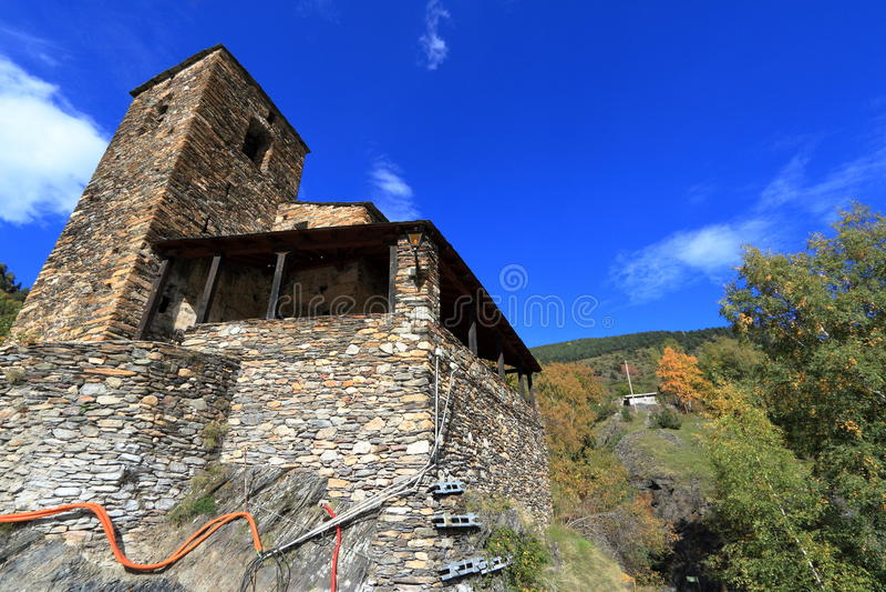 Os de Civis,西班牙中世纪镇  库存照片